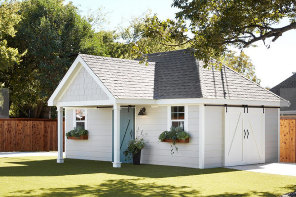 Custom cottage themed playhouse made by Wish To Play for Fixer Upper  www.wishtoplay.com
